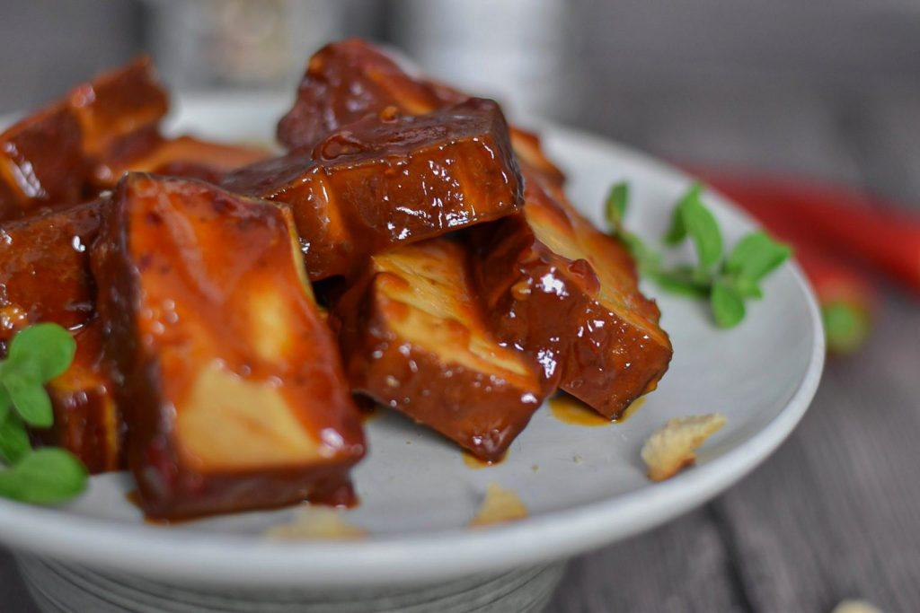 Tofu Barbecue Soße Grill Grillen