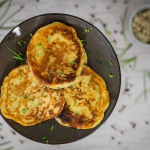 Kartoffelpfannkuchen Rezept vegetarisch Reibekuchen Reiberdatschi