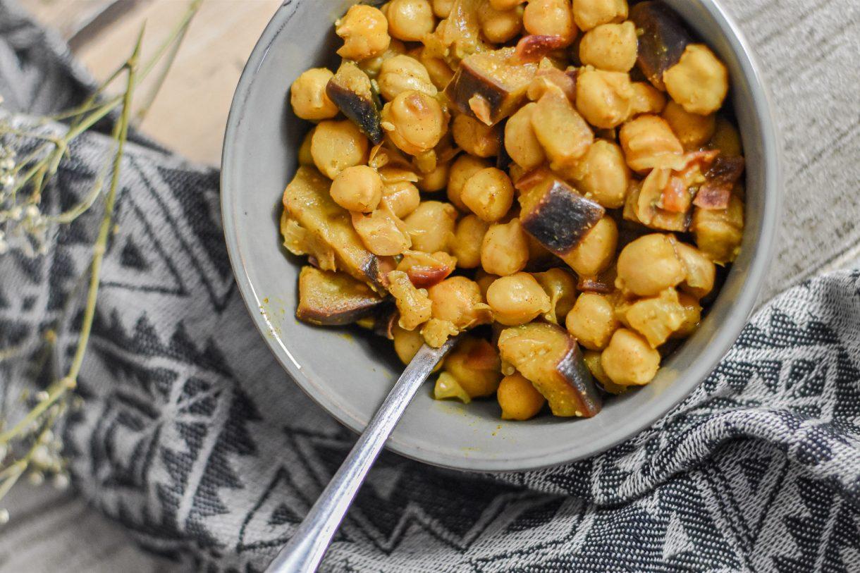 Kichererbsen Curry Limettensaft