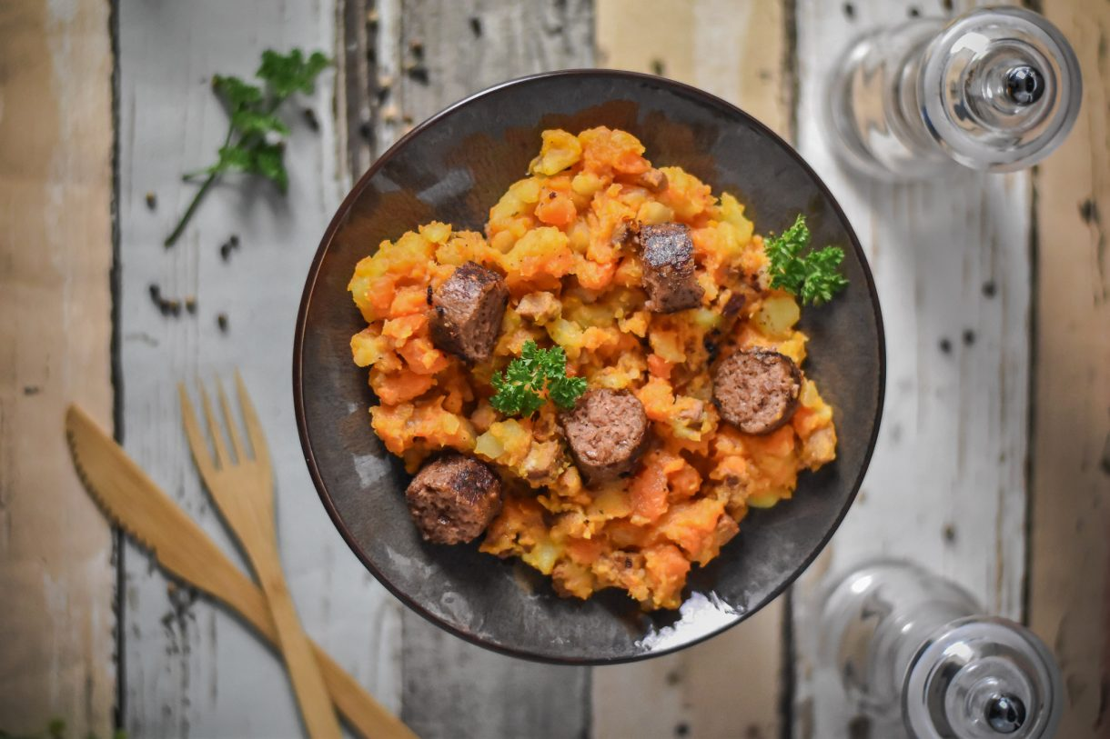 Aachen Möhrengemüse vegane Bratwurst