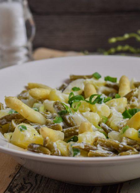 Spargelsalat leicht Bohnen